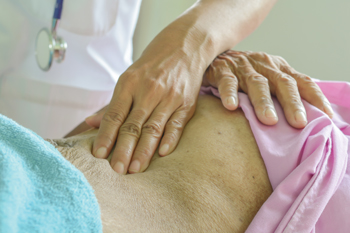 A simple physical exam and some savvy history taking can help internists distinguish between sharp pain occurring at a point as opposed to vague dull pain over an entire area of the abdomen Photo by iStock